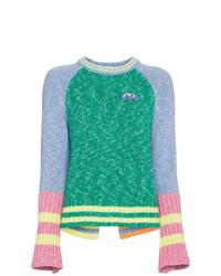 Jersey con cuello circular en multicolor de Mira Mikati