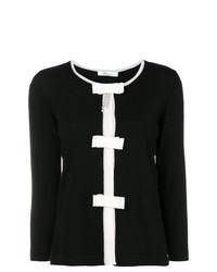 Jersey con cuello circular en negro y blanco de Blumarine