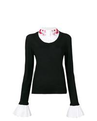 Jersey con cuello circular en negro y blanco de Vivetta