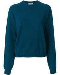 Jersey con cuello circular en verde azulado