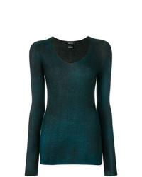 Jersey con cuello circular en verde azulado de Avant Toi