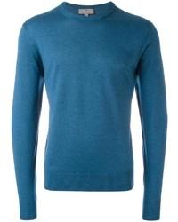 Jersey con cuello circular en verde azulado de Canali