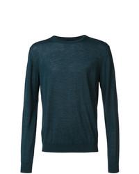 Jersey con cuello circular en verde azulado de Lanvin