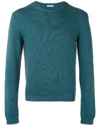 Jersey con cuello circular en verde azulado de Malo