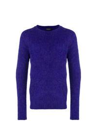 Jersey con cuello circular en violeta