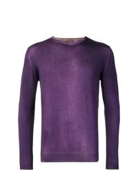 Jersey con cuello circular en violeta de Altea