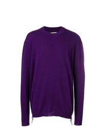 Jersey con cuello circular en violeta de Laneus
