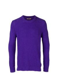 Jersey con cuello circular en violeta de Nuur