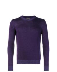 Jersey con cuello circular en violeta de Roberto Collina