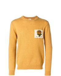 Jersey con cuello circular estampado amarillo de Kent & Curwen