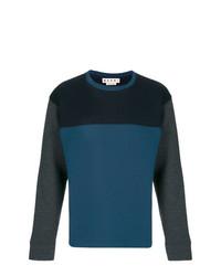 Jersey con cuello circular estampado azul marino de Marni