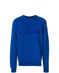 Jersey con cuello circular estampado azul de Études