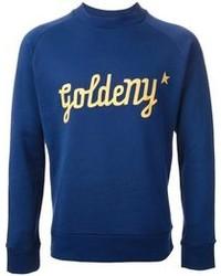 Jersey con cuello circular estampado azul de Golden Goose Deluxe Brand
