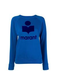 Jersey con cuello circular estampado azul de Isabel Marant Etoile