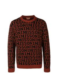 Jersey con cuello circular estampado burdeos de Missoni