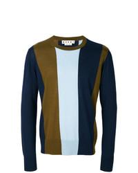 Jersey con cuello circular estampado en multicolor de Marni