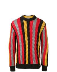 Jersey con cuello circular estampado en multicolor de Salvatore Ferragamo