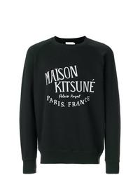 Jersey con cuello circular estampado en negro y blanco de MAISON KITSUNÉ