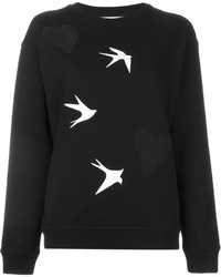 Jersey con cuello circular estampado en negro y blanco de McQ by Alexander McQueen