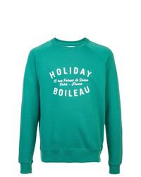 Jersey con cuello circular estampado en verde menta de Holiday