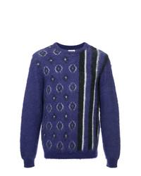 Jersey con cuello circular estampado en violeta de Coohem