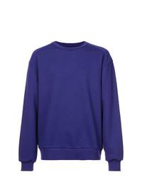 Jersey con cuello circular estampado en violeta de Juun.J