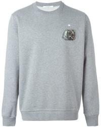 Jersey con cuello circular estampado gris de Givenchy