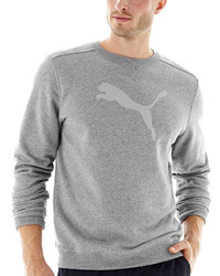 Jersey con Cuello Circular Estampado Gris de Puma