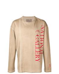 Jersey con cuello circular estampado marrón claro de A-Cold-Wall*