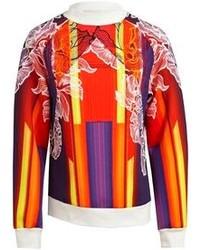 Jersey con cuello circular estampado naranja de Peter Pilotto