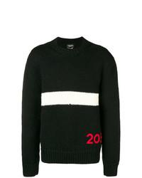 Jersey con cuello circular estampado negro de Calvin Klein 205W39nyc