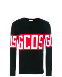 Jersey con cuello circular estampado negro de Gcds