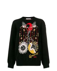 Jersey con cuello circular estampado negro de Givenchy