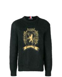 Jersey con cuello circular estampado negro de Hilfiger Collection