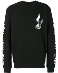 Jersey con cuello circular estampado negro de McQ