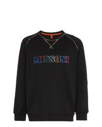 Jersey con cuello circular estampado negro de Missoni