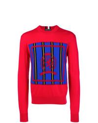 Jersey con cuello circular estampado rojo de Tommy Hilfiger