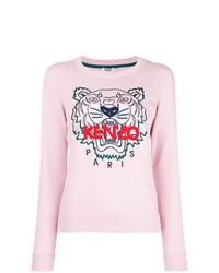 Jersey con cuello circular estampado rosado de Kenzo
