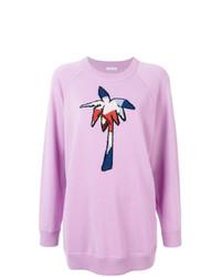 Jersey con cuello circular estampado rosado de Tomas Maier