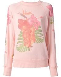 Jersey con cuello circular estampado rosado de Wildfox Couture