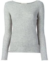 Jersey con cuello circular gris