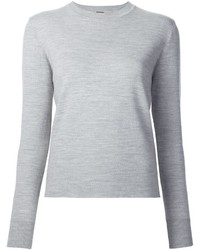 Jersey con cuello circular gris de ADAM by Adam Lippes