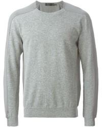 Jersey con cuello circular gris de Alexander McQueen