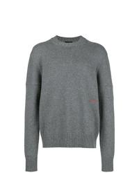 Jersey con cuello circular gris de Calvin Klein 205W39nyc