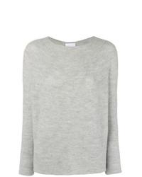 Jersey con cuello circular gris de Christian Wijnants