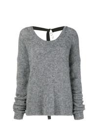 Jersey con cuello circular gris de Diesel