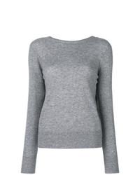 Jersey con cuello circular gris de Equipment