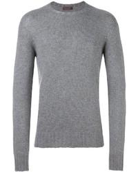 Jersey con cuello circular gris de Etro