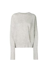 Jersey con cuello circular gris de Isabel Marant