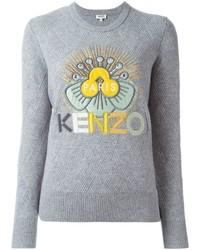 Jersey con cuello circular gris de Kenzo